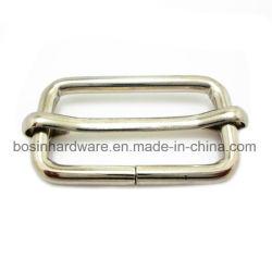 Nicke metálica de acero chapado en diapositiva de la hebilla con clavija