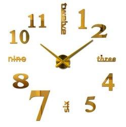 Высокое качество клея DIY акрил Настенные часы на наклейке дома оформление