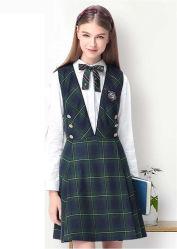 Venta caliente de la escuela de niñas vestidos de uniforme de cuadros escoceses