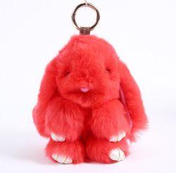 Coniglio Keychain della peluche farcito pelliccia molle