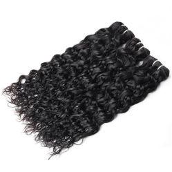 Vague de l'eau pure brésilien sèche les faisceaux de Tissage de cheveux humains de la trame des extensions pour femme