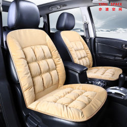 Commerce de gros de l'hiver vers le bas épaissie tampon de coton peluche court Auto Coussin de siège de voiture pour le chaud et doux