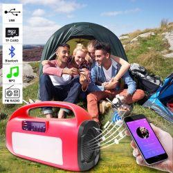 La Banca di energia solare con il giocatore MP3 & disco libero del USB con le musiche pop