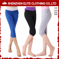 Populaires Skinny serré à l'aise de la moitié court pantalon de Yoga (ELTLI-77)