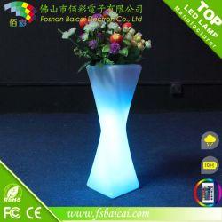 كبير الحجم كبير الحجم مصباح LED دائري طويل ومضاء وعاء زهرة