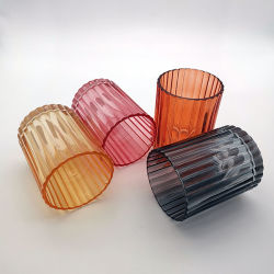 다른 색깔 및 크기 장식적인 유리제 촛대
