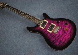 박쥐 Fretboard를 가진 자주색 Prs Se 24 번민 일렉트릭 기타 폴 갈대 스미스 Se 서명은 중국 제작한 Prs 복사 기타에 의하여 고쳐진 브리지를 박아 넣는다
