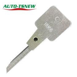 Lishi 2 in strumenti in bianco di taglio del 1 della scala Hu66 dei denti dell'automobile fabbro di tasto