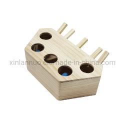 Whack Mole Ratón de juguete de ejercicio Cat Puzzle de madera maciza Caja con 3 y 5 Hoyos mascota Juguetes