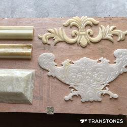 Het doorzichtige CNC Scherpe Opgepoetste Blad van het Onyx paste Albasten Steen aan