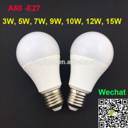 مصباح LED بزاوية شعاع 360 درجة 3 واط/5 واط/6 واط/7 واط/9 واط/12 واط A45/A55/A60 مصباح خزفي