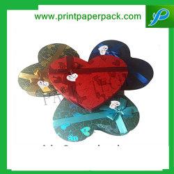 Op Maat Decoratieve Heart-Shaped Embossing Wedding Favours Jewelry Paper Gift Packaging Boxes Handgemaakte Zeep Dozen