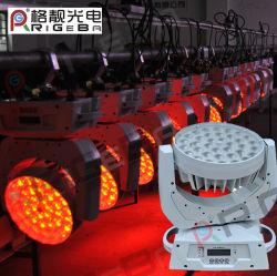 DMX 36X10W RGBW 4-in-1 LED Wash Zoom bewegende hoofdlamp