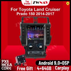 Android 9.0 тесла вертикальный экран Car DVD плеер для Toyota Земли Cruiser Прадо 150 2010-2013 автомобильной навигации GPS