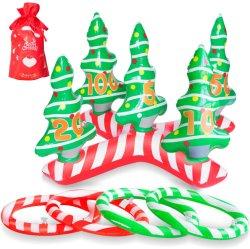 屋外および屋内クリスマス・パーティの演劇のおもちゃの子供のための膨脹可能なクリスマスツリーのリングのトスのゲーム