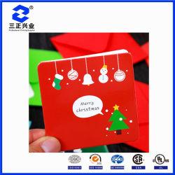 Cartão de felicitações de impressão personalizado colorido bordas lisas