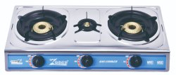Quemador de acero inoxidable oro plancha Cocina Horno Zg-3076K