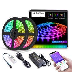 Indicatore luminoso di striscia astuto di Bluetooth APP con il Modello-b di controllo del suono di musica 5050RGB