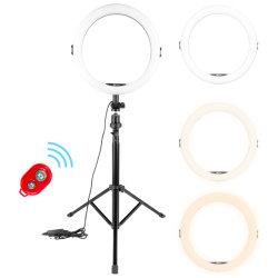 AFI 10 Zoll dimmbare LED-Ringleuchte mit Stativ-Fotografie Studio Cosmetic Selfie Lampe Licht