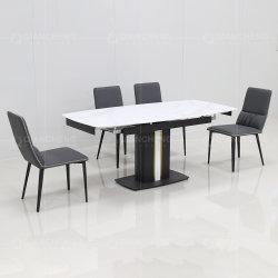 Modern Ceramic Top Ausziehbare Esstisch Moderne Erweiterbare Speisen Tisch 8 Sitzer Ausziehbarer Esstisch