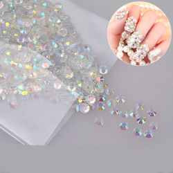1000pcs Nail Art Ab Crystal Stone Pearl Nail Art Rhinestone Diamand Kit Manucure