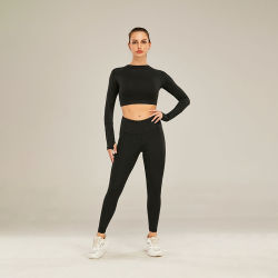 Venda por grosso de moda de alta qualidade mulheres Ginásio Fitness vestir calças de desporto Impressão Leopard cortado para Senhoras