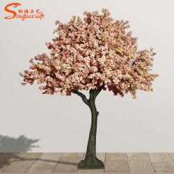Vero legno tronco Umbrello forma denso fiori rosa ciliegia artificiale Albero di fiori per la decorazione di nozze di festa