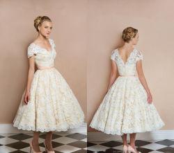 قبعة لمكان الزفاف القصيرة، غطاء للركبة، طول الركبة، زفاف صغير Gيمتلك A61