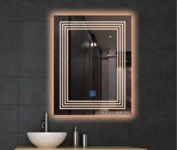 4mm/5mm 온난한 백색 점화된 미러 호텔 목욕탕 잘 고정된 LED 유리제 미러