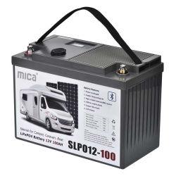 12V 100Ah LiFePO4 de la batería de iones de litio de Bluetooth con pantalla LCD USB Dual Power Station con BMS para Caravana Camper de ciclo profundo barco