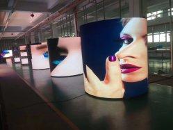 لوحة الإعلانات ذات السعر الرقمي المتنقل عالي الجودة إعلانات مرنة P2.5 شاشات عرض LED