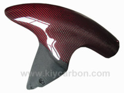 As peças de cores em fibra de carbono Kevlar