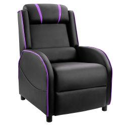 Sofá de juego de cuero de poliuretano de asiento sencillo de alta calidad