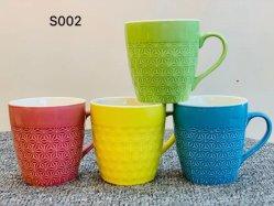 Customized 8oz wiederverwendbare Keramik-Tassen Customized Porzellan Cup Geschenke mit Relif-Technologie