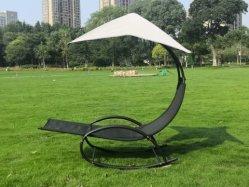 جمليّة أسلوب جديدة خارجيّة حديقة بطانة متنقل شمس شاطئ فناء أثاث منزلى حديث من إطار معدنى وردهة تيكستلين وهو عبارة عن مقعد أرجوحة مع مظلة مظلة