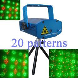 160mW RG Mini-luz Laser, 20 Tipos animações