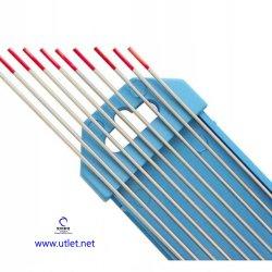 elettrodo per saldatura Thoriated Th rosso di TIG di CC del tungsteno 2% di 175mm x di 4.0mm