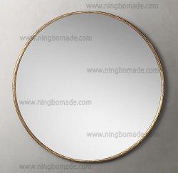 Colección de muebles rústicos repujado a mano forjada de hierro sólido de metal color bronce con gran espejo