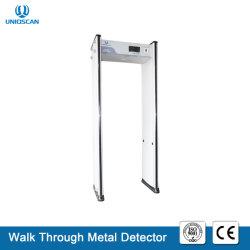 24 camminate di zone tramite i metal detectori con il programma autodiagnostico
