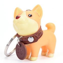 美しい犬の卸売の多彩な金属のホックの締縄のキーホルダーかキーホルダー