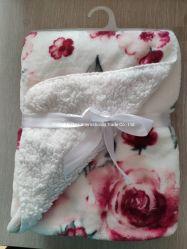 Flanela de manta de lã Sherpa + Sherpa Fleece Manta de Camada 2 Cama de flores