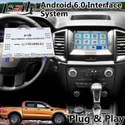 Android 6.0 Interface vidéo de navigation GPS pour Ford Ranger / Explorateur Sync 3 système miroir Bt WiFi Link de l'écran en fonte