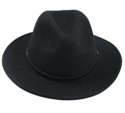 도매 남성용 크러쉬블 울 펠트 아웃백 모자 페도라 클래식 아웃도어 따뜻한 큰 브림 겨울 모자