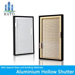 空シャッターガラス窓の巻上げ式ブラインドシャッター内部によって二重ガラスをはめられるWindows