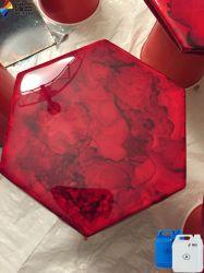 De resina epoxi transparente de alto brillo para la tabla de Río de muebles de madera