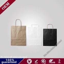 L'acquisto pieghevole all'ingrosso ha reso personale il sacchetto del regalo con il marchio su ordinazione delle stampe