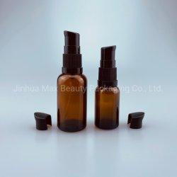 Four-Step 18/410 kosmetische Pumpen-Sahne-Lotion-Pumpen-Zufuhr-Pumpebrown-Glasflasche