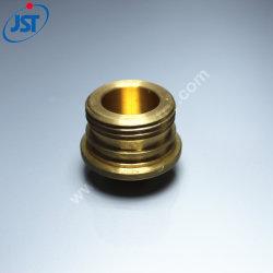 CNC personalizada girando las tuercas/racores de latón moleteado para purificador de agua