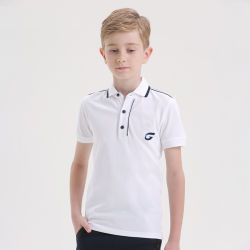 Venda por grosso de boa qualidade 100% algodão Kids Polo Shirts