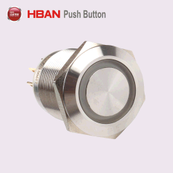 19mm LED 12 V Bouton Momentané en acier inoxydable avec pré fils